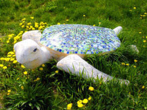 mosaic turtle sculpture