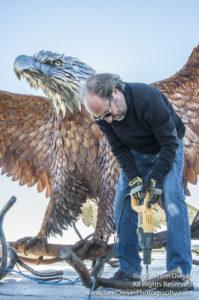 Seaman Eagle Sculpture Montezuma