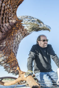 Seaman and Eagle Sculpture Montezuma